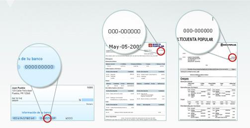 Numero De Ruta Banca Oriental:de cuenta en uno de tus cheques en un e statement o en tu estado de